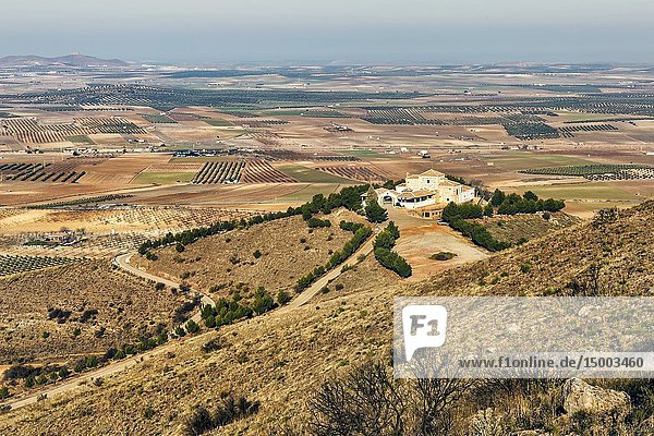 Our Lady of the Old hermitage in the fields of Mora. Toledo. Spain. Europe.