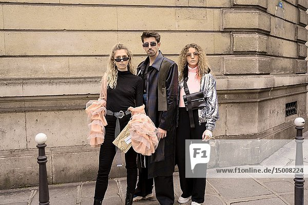 Street Style - Paris Fashion Week Womenswear Fall/Winter 2019/2020  guests seen outside Elie Saab  Day six  March 2  2019.