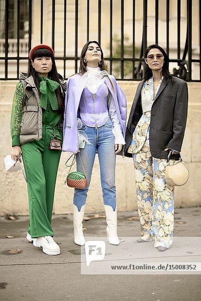 Street Style - Paris Fashion Week Womenswear Fall/Winter 2019/2020  guests seen outside Altuzarra  Day six  March 2  2019.