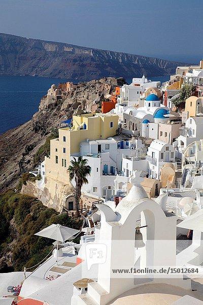 Houses in Oia  Santorin  Greece  Europe.