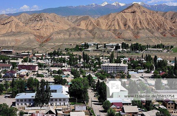 General view of Naryn  Kyrgyzstan.