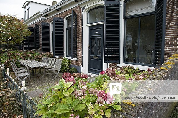 House on the Wadden Sea coast  Schiermonnikoog island  Netherlands