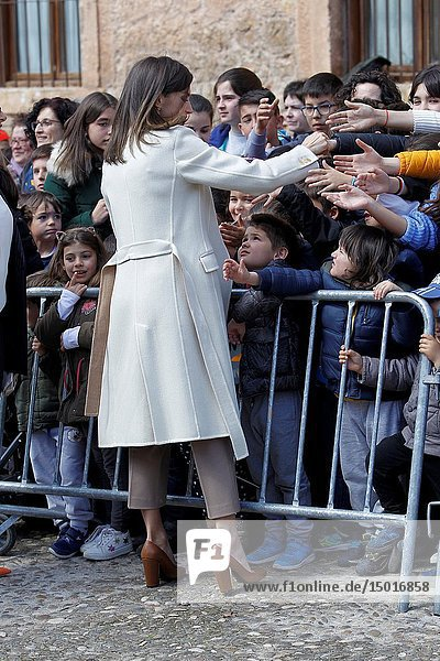 Queen Letizia attends the opening of Angeli exhibition of sacred art in Lerma  Spain on the 11/04/2019