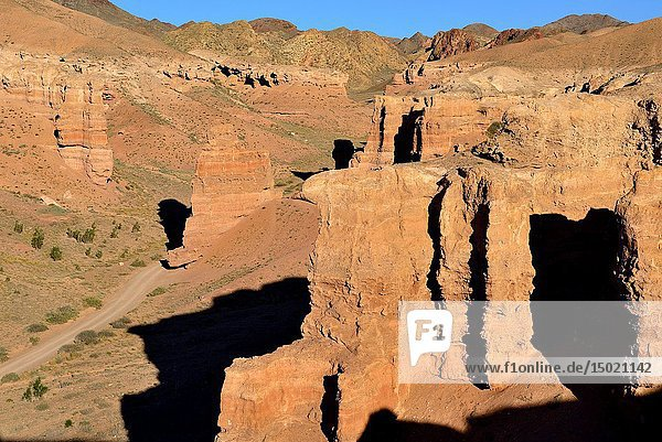 Charyn Canyon landscape  Kazakhstan.