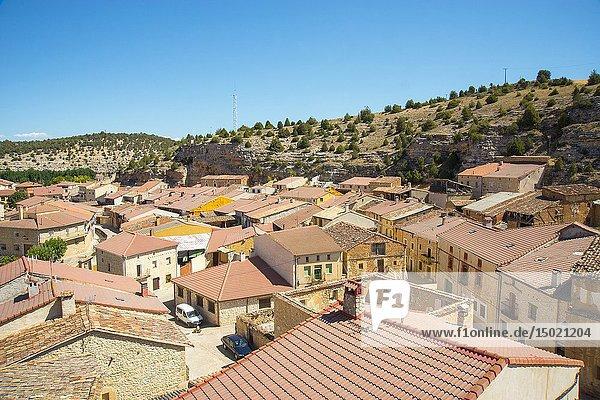 Overview. Castillejo de Robledo  Soria province  Castilla Leon  Spain.