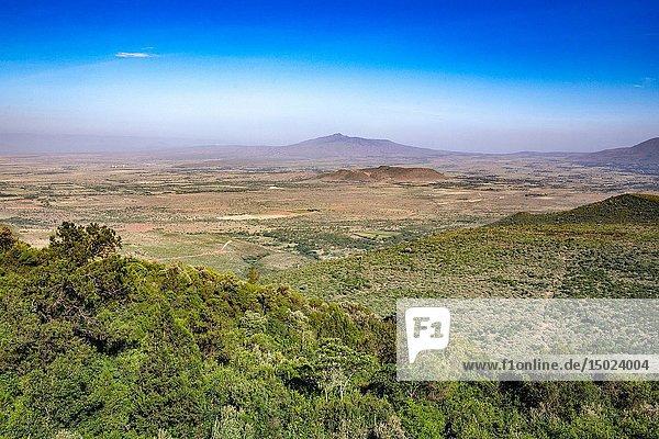 View overlooking the Great Rift Valley in Kenya.