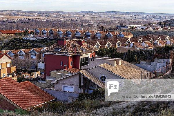 Roofs in Aranjuez. Madrid. Spain. Europe.