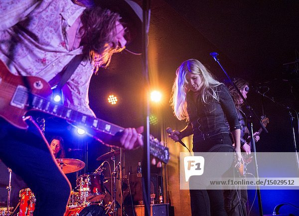 Madrid,  Spain- April 25: Matte Gustafsson and Lisa Lystam from Heavy Feather rock band performs in concert at Sala Clamores on april 25, 2019 in Madrid,  Spain (Photo by: Angel Manzano)