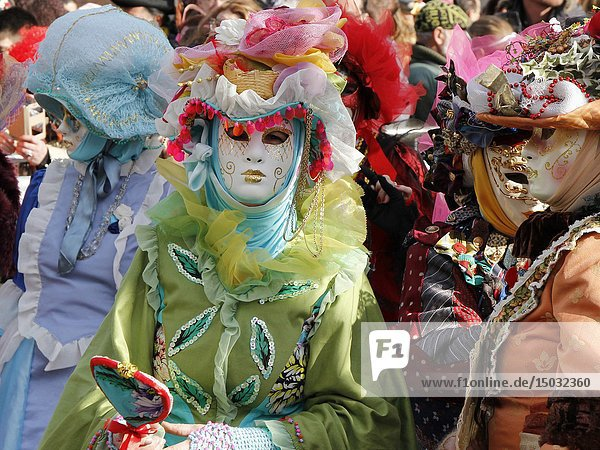 Carnival at St Marks Square  Venice  Italy.