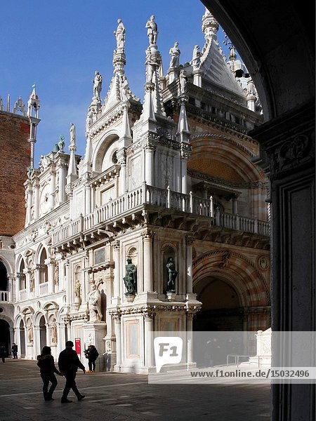 Courtyard of the Doge s Palace  Basilica  Venice  Italy.