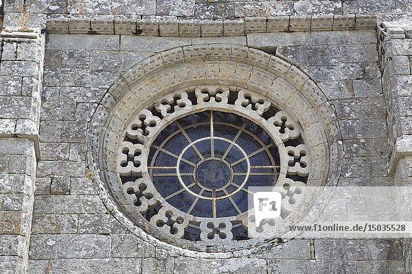Rose Window  Santa Maria Church  Baiona  Galicia  Spain.