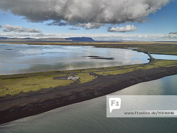 Markarfljot river  Markarfljotsbru bridge  South Coast  Iceland.