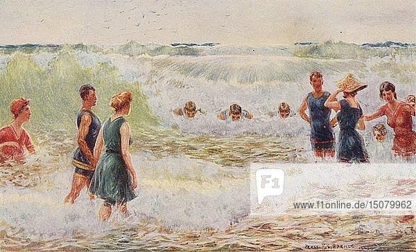 'Surf Bathing'  1923. Creator: Unknown.
