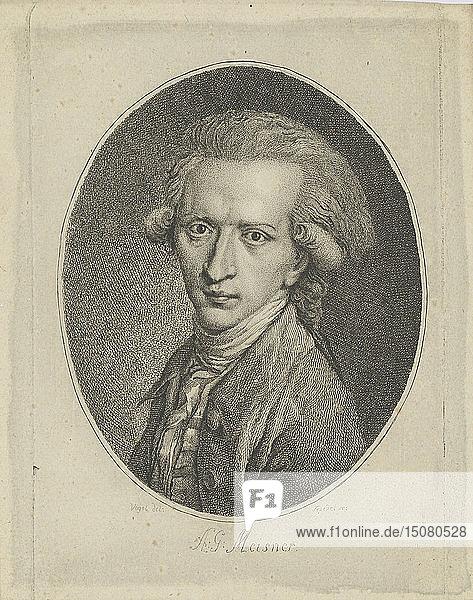 Portrait of August Gottlieb Meissner (1753-1807)   c. 1800. Creator: Riedel  Gottlieb Friedrich (1724-1784).