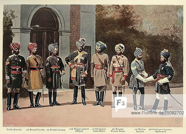 'Types of Indian Cavalry'  1901. Creator: Gregory & Co.