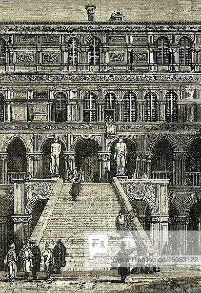 'Scala dei Giganti at the Doge's Palace  Venice'  1890. Creator: Unknown.