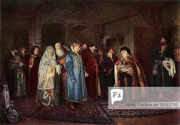 'A Boyar Wedding'  1883  (1965). Creator: Klavdi Vasilevich Lebedev.