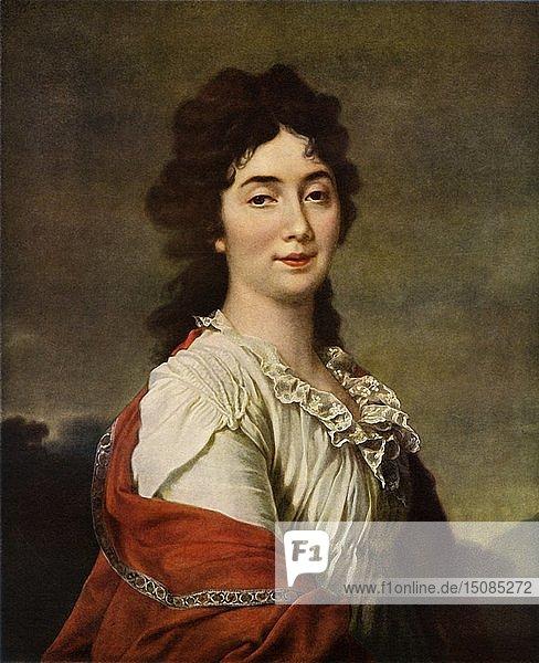 'Portrait of Anna Stepanovna Protosova'  1800  (1965). Creator: Dmitry Levitsky.