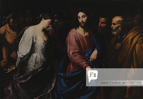 Christ and the Woman Taken in Adultery  c.1630. Creator: Vaccaro  Andrea (1604-1670).