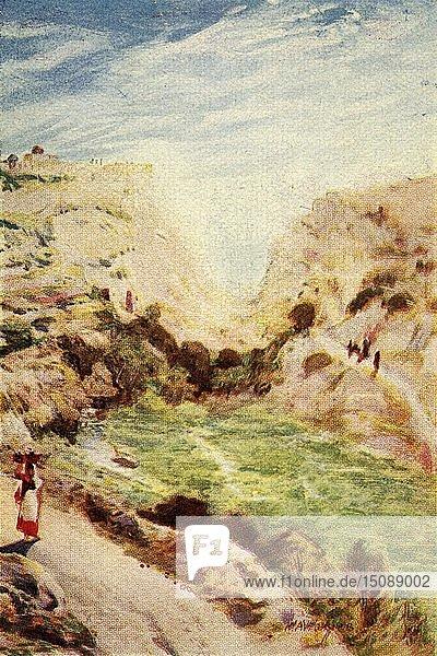 'Jerusalem  The King's Dale - Matt. xxiii. 37'  c1924. Creators: James Clark  Henry A Harper.