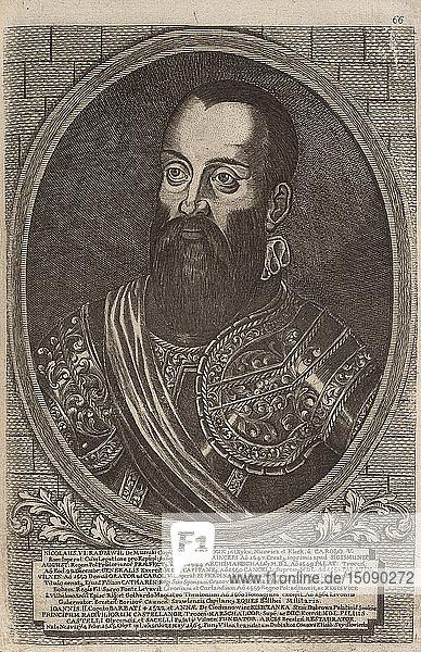Mikolaj 'the Black' Radziwill (1515-1565)  Grand Hetman of Lithuania. From: Icones Familiae Ducalis