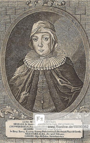Anna Radziwill. From: Icones Familiae Ducalis Radivilianae  1758.