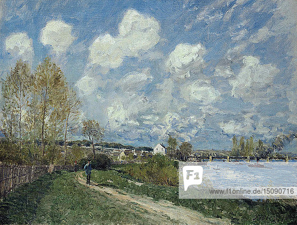 Été à Bougival (Summer at Bougival)  1876. Creator: Sisley  Alfred (1839-1899).