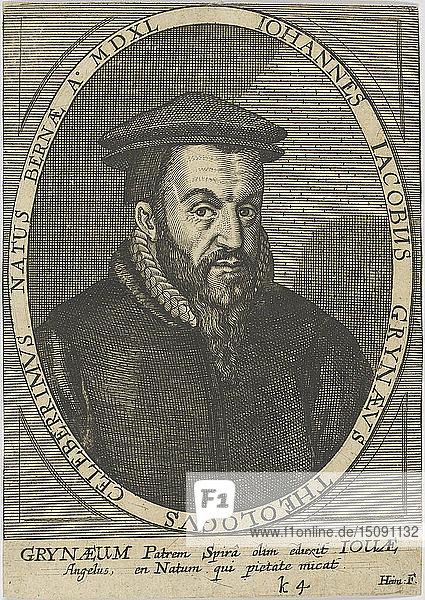 Johann Jakob Grynaeus (1540-1617)   1650. Creator: Anonymous.