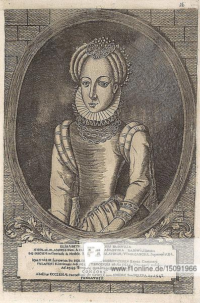 Elzbieta Radziwill (Holszanska). From: Icones Familiae Ducalis Radivilianae  1758.