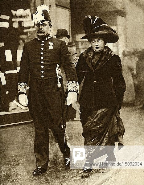 David Lloyd George and his wife Margaret,  1910,  (1935). Creator: Unknown.