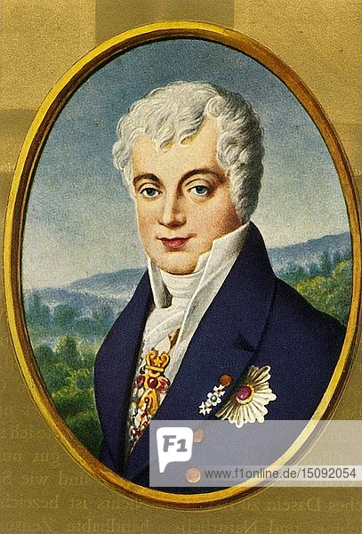 'Klemens Lothar Wenzel Fürst von Metternich'  (1933) Creator: Unknown.