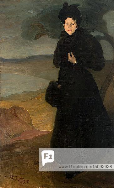 Portrait of Mademoiselle Valentine Dethomas  c. 1895. Creator: Zuloaga y Zabaleto  Ignacio (1870-1945).