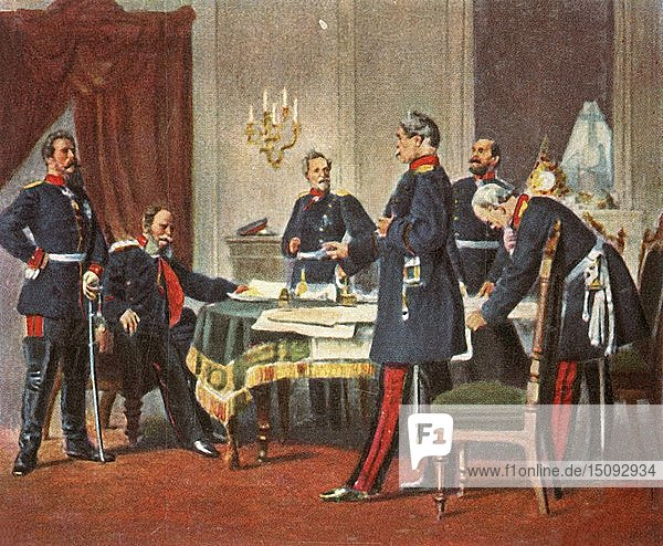 Council of war at Versailles  1870  (1936). Creator: Unknown.