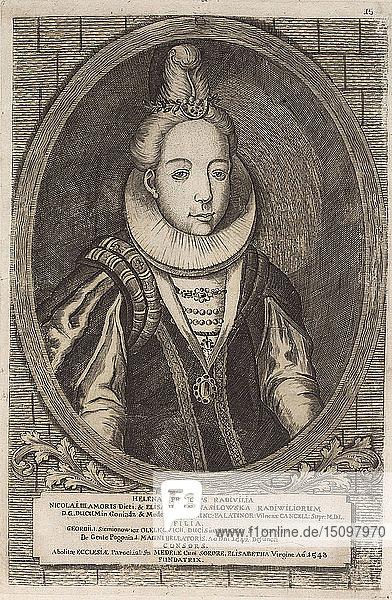 Helena Radziwill (Olelkowicz). From: Icones Familiae Ducalis Radivilianae  1758.