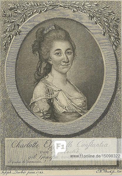Portrait of Elisa von der Recke (1754-1833)  1783. Creator: Darbès  Joseph Friedrich August (1747-1810).