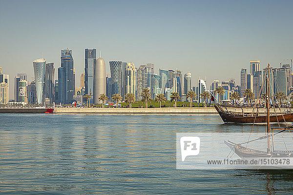 Skyscraper skyline in Doha  Qatar