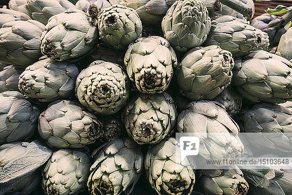 Pile of artichokes