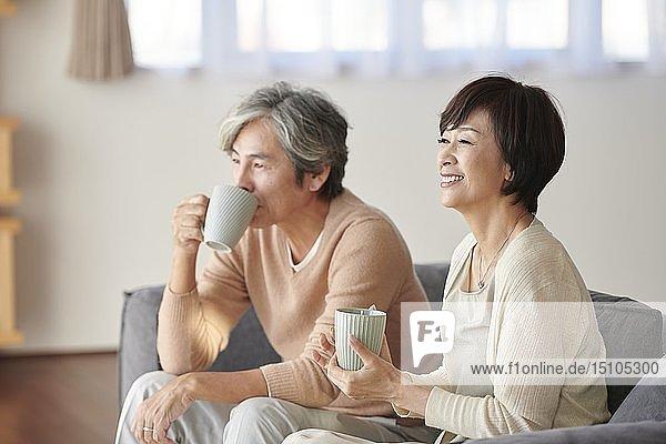 Japanese senior couple