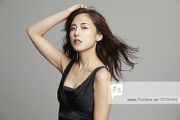 Attractive Japanese woman beauty portrait