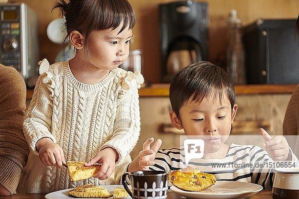 Japanese kids at home