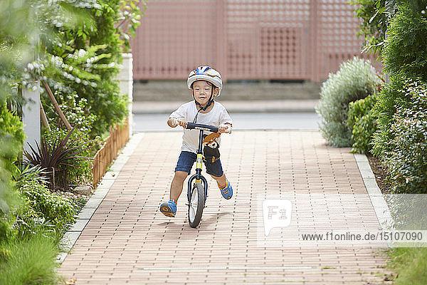 Japanese kid on a bike
