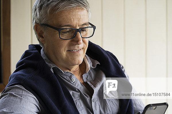 Close-up of mature man