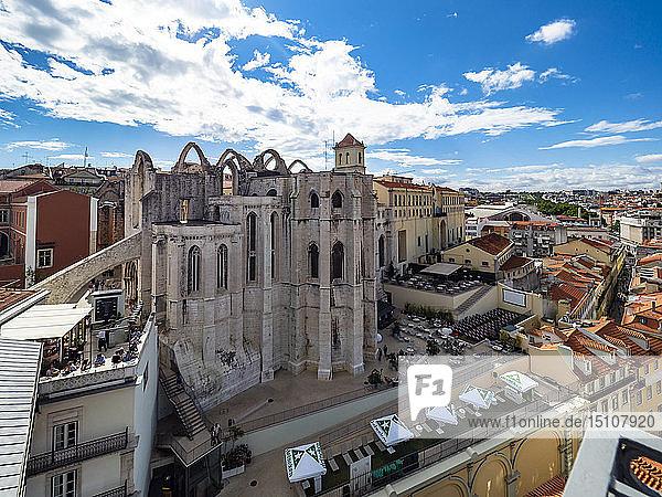 Ruins of Igreja do Carmo  Convento da Ordem do Carmo  Lisbon  Portugal