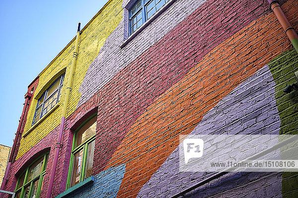 UK  London  Neal's Yard  colourful house facade