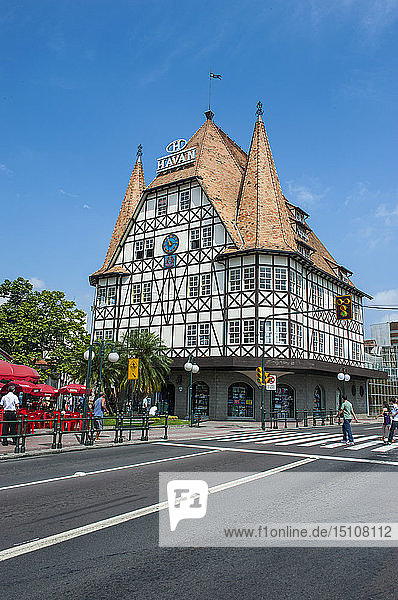 Colonial houses in the German town Blumenau  Brazil