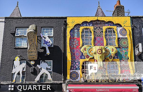 UK  London  Camden Town  house facades