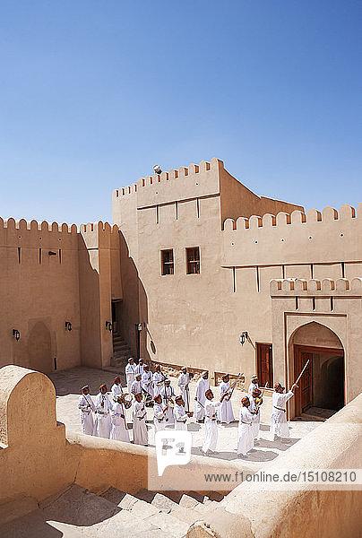 Folk musicians  Fort  Nizwa  Oman