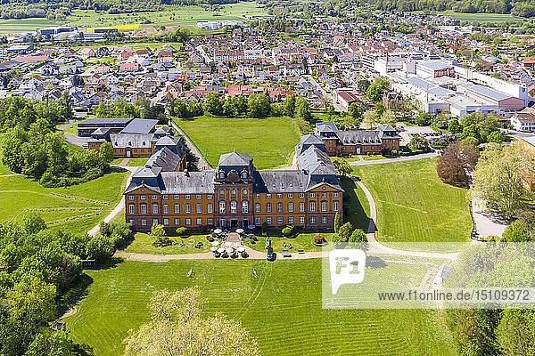 View of Loewenstein Castle  Kleinheubach  Bavaria  Germany