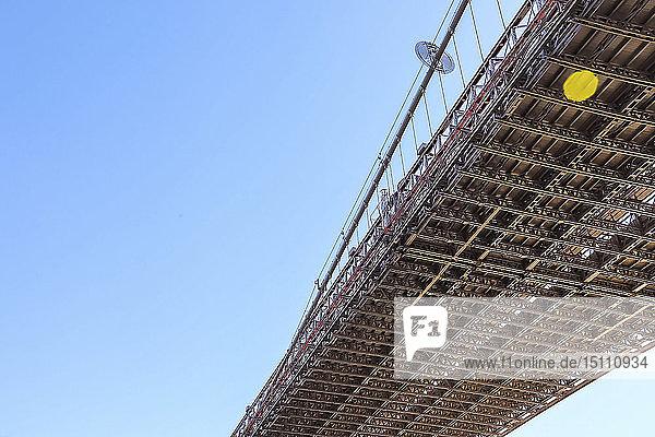 Brooklyn Bridge  Manhattan  New York City  USA