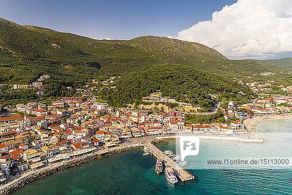 Griechenland  Luftaufnahme von Parga
